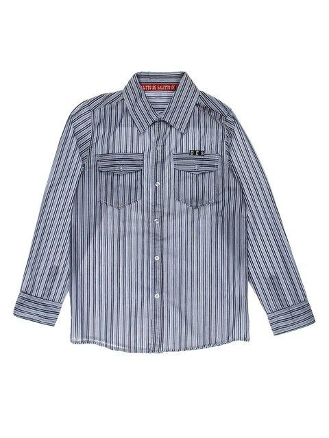 Рубашка голубая в полоску De Salitto 2981274