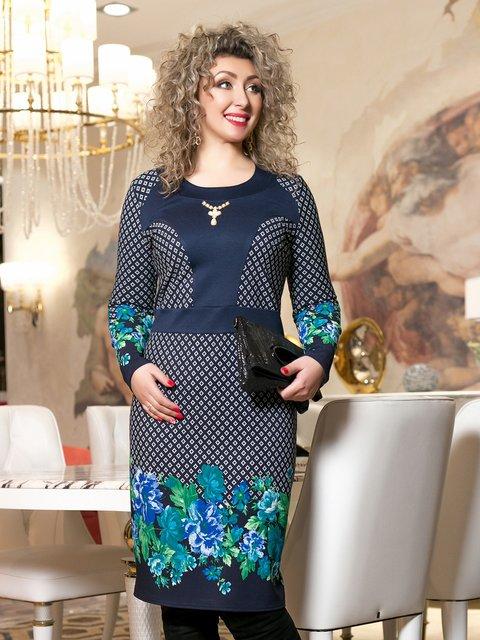 Сукня синя з принтом Seventeen 2995993