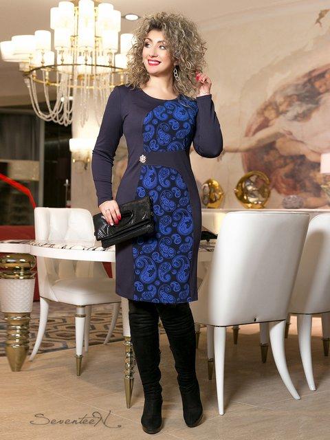 Сукня синя з принтом Seventeen 2996009