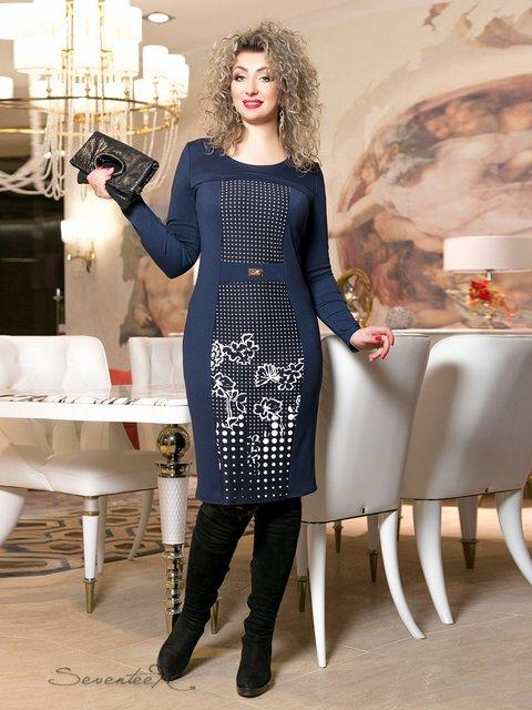 Сукня синя з принтом Seventeen 2996014