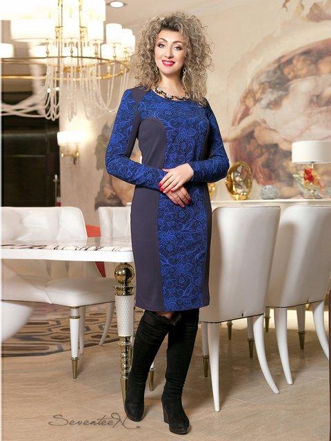 Сукня синя з принтом Seventeen 2996020