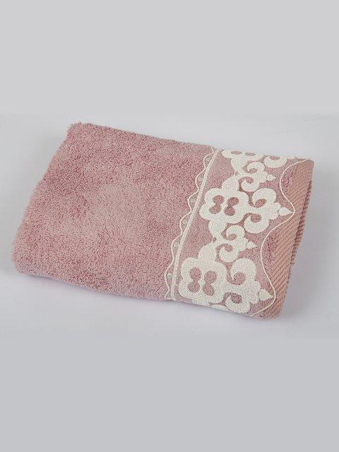 Полотенце бамбуковое розовое (50х90 см) MaxStyle 2703913