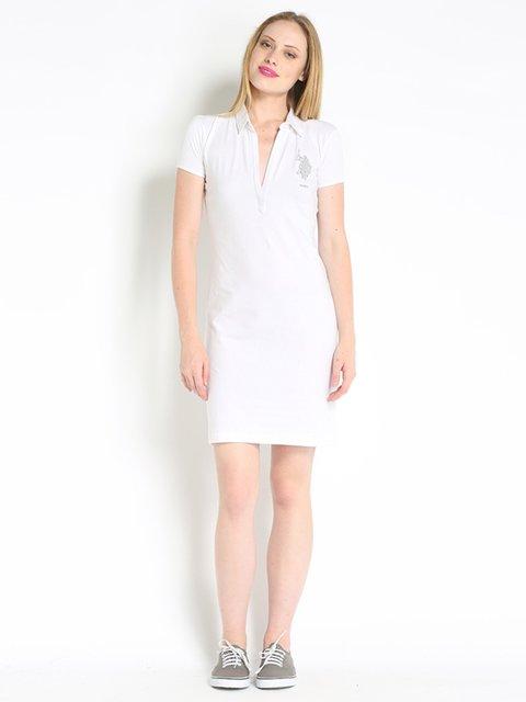 Платье белое с вышивкой US Polo ASSN 2361141
