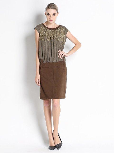 Платье двухцветное Pianura Studio 2683096
