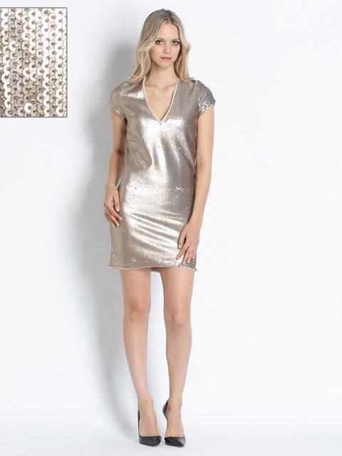 Сукня золотиста, декорована паєтками Patrizia Pepe 2739672