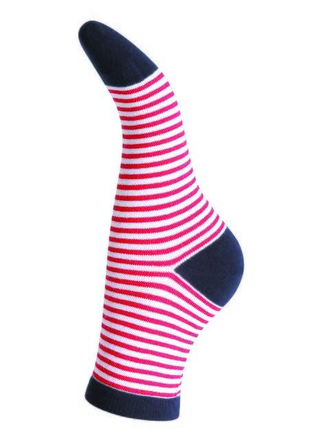 Шкарпетки червоні в смужку Интуиция 3028088