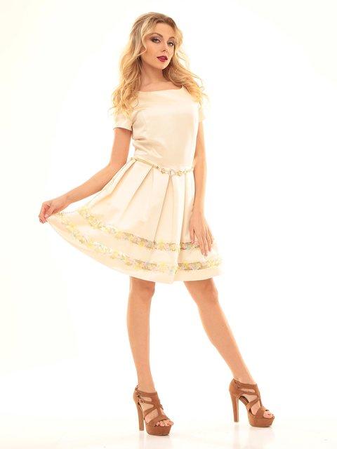 Платье молочного цвета Мисс мода 2592938