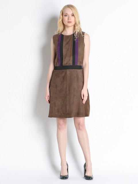 Платье коричневое Stefanel 2748858