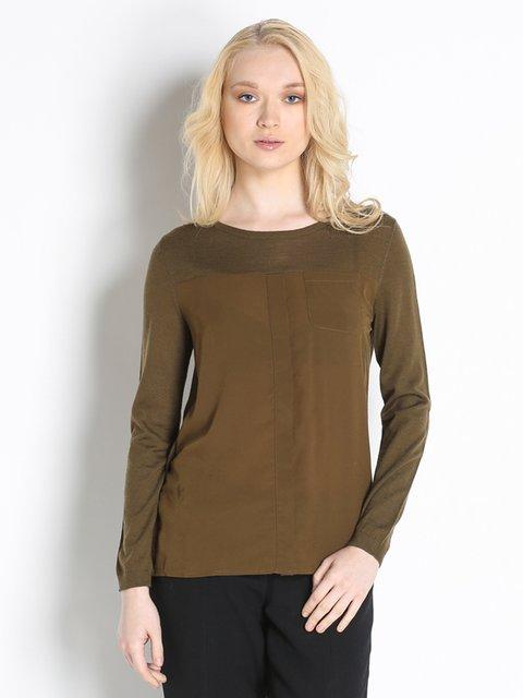 Блуза кольору хакі Stefanel 2748886