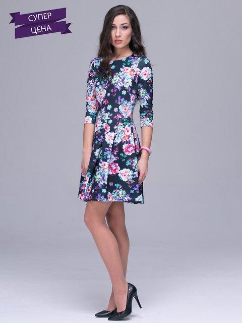 Платье черное в цветочный принт Jet 2903660