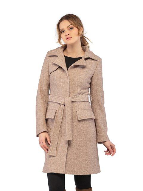Пальто кольору капучино Mila Nova 3043285