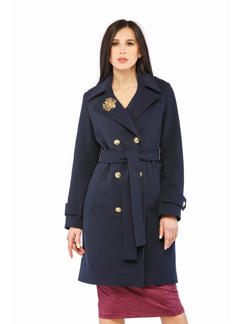 Пальто синє Mila Nova 3043297