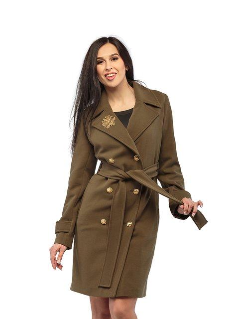 Пальто кольору хакі Mila Nova 3043298