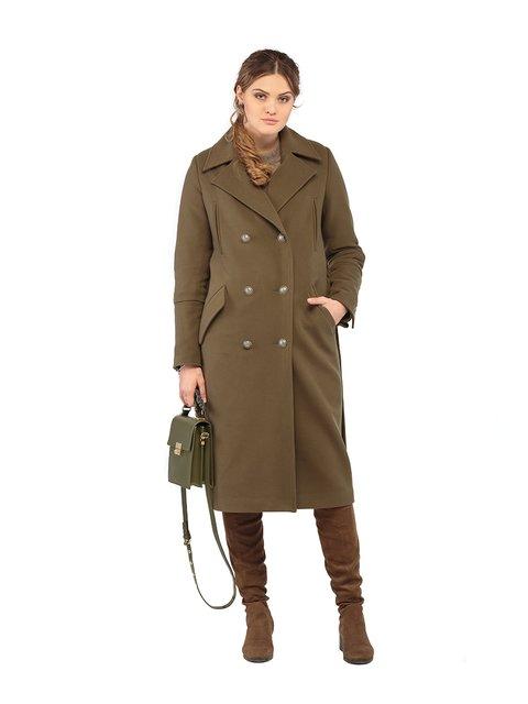 Пальто кольору хакі Mila Nova 3043306