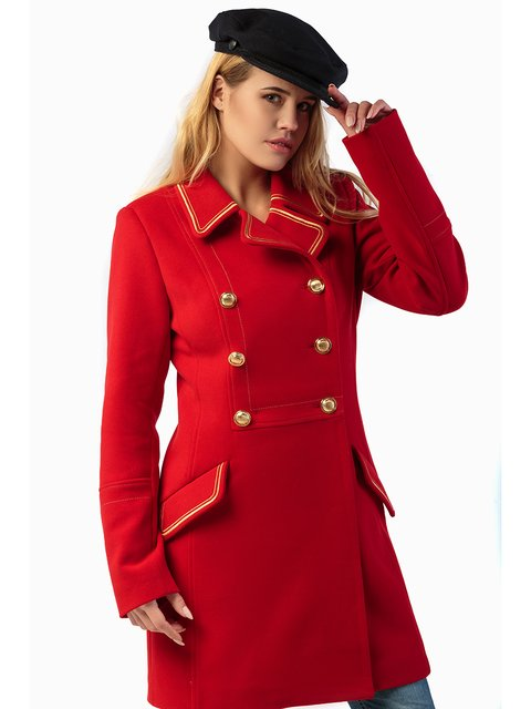 Пальто червоне Mila Nova 3043311