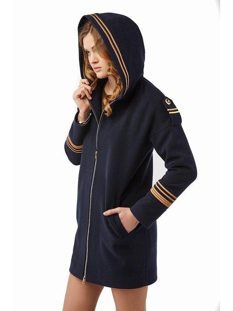 Пальто синє Mila Nova 3043329