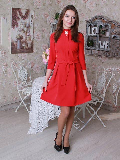 Платье красное VSV 3050038