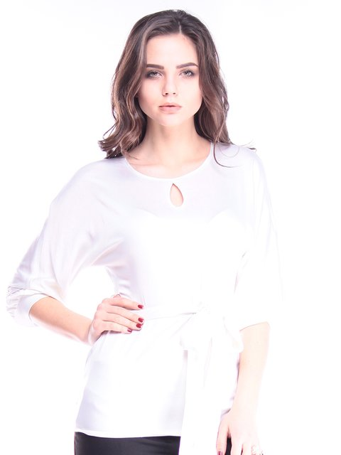 Блуза молочного цвета Maurini 2962909