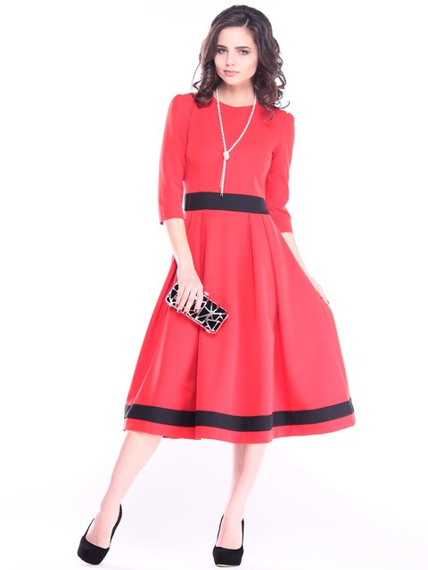 Платье красно-черное Dioni 2985922