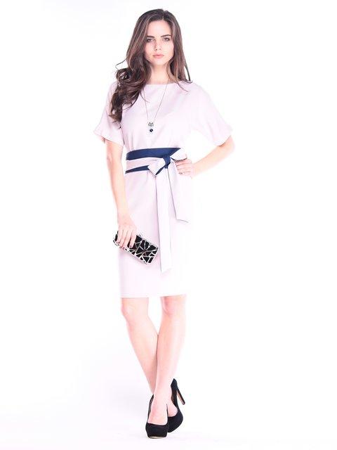 Сукня бежево-синя Rebecca Tatti 2995960