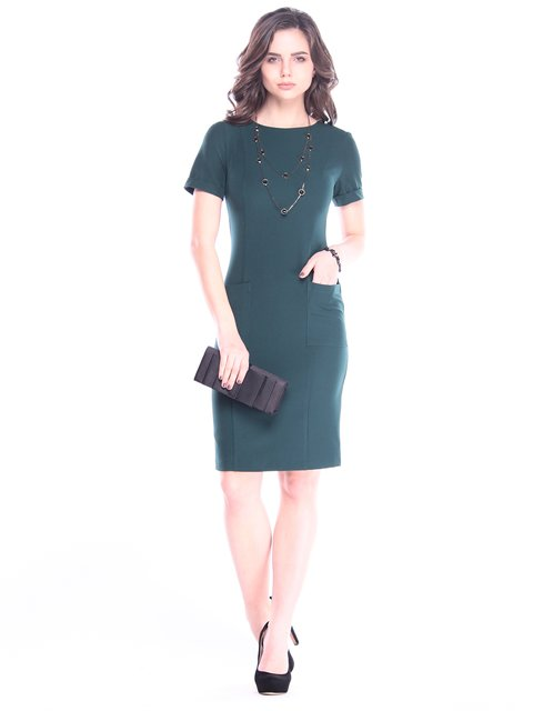 Платье темно-изумрудное Dioni 3008115