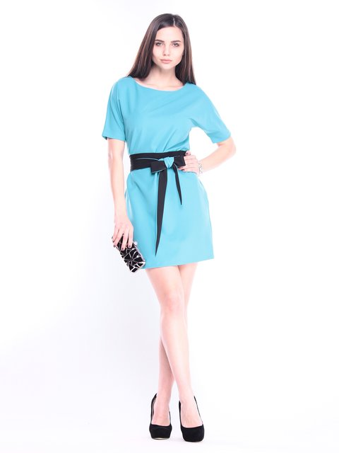 Платье цвета зеленой бирюзы Maurini 3008161
