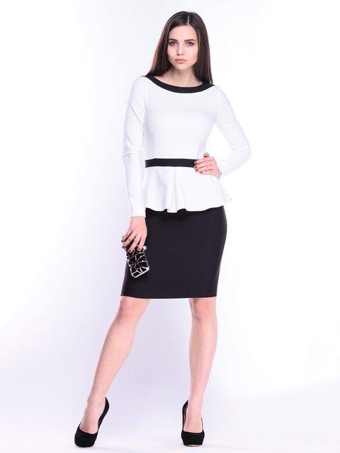 Сукня молочно-чорна Rebecca Tatti 3041105
