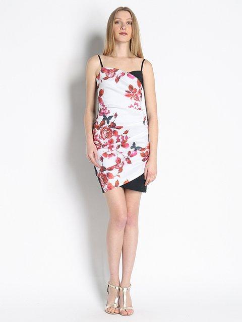 Платье белое с принтом Phard 3067015