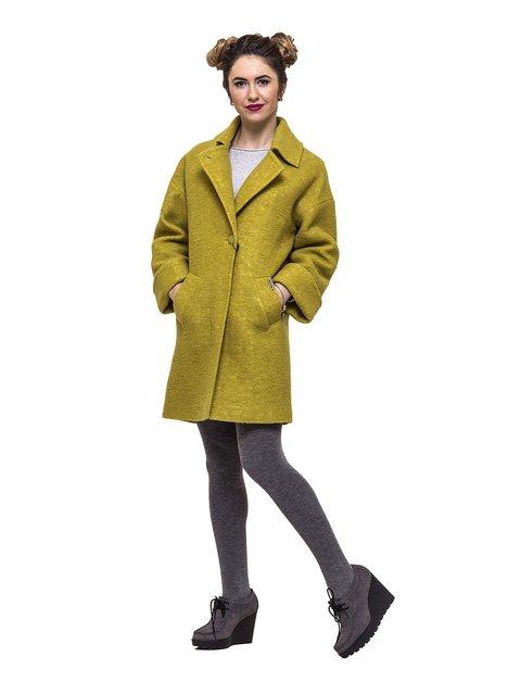 Пальто горчичного цвета Victoria Bloom 3069268