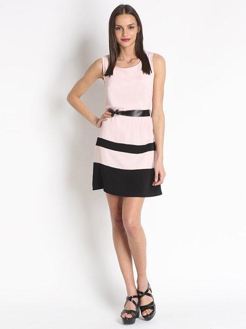 Платье розово-черное Assuili 3073206