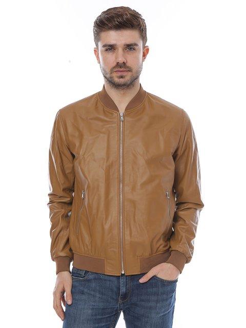Куртка коньячного кольору L.Y.N.N by Carla Ferreri 3010793