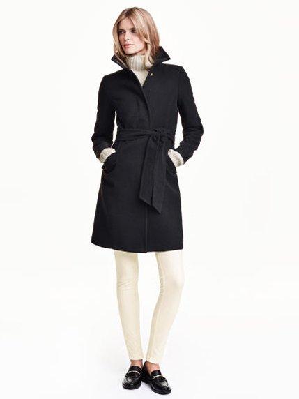 Пальто черное H&M 3095571