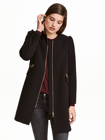 Пальто черное H&M 3095753