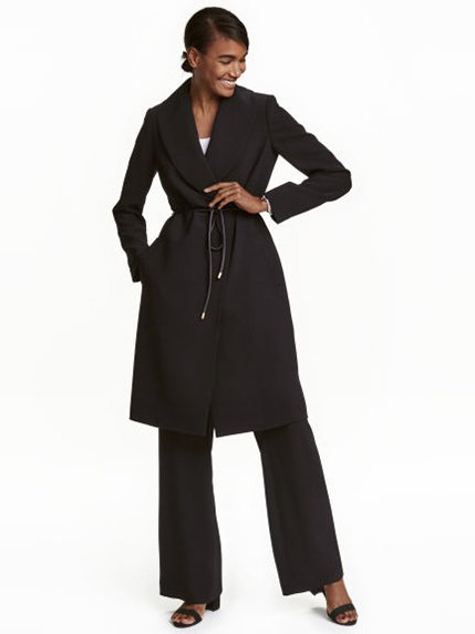 Пальто черное H&M 3095901