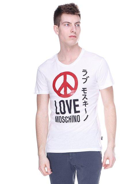 Футболка біла з принтом Love Moschino 2191666