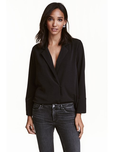 Блуза черная H&M 3082408