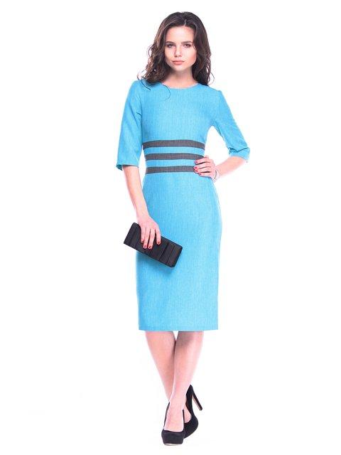 Платье ментолово-графитовое Maurini 3106361