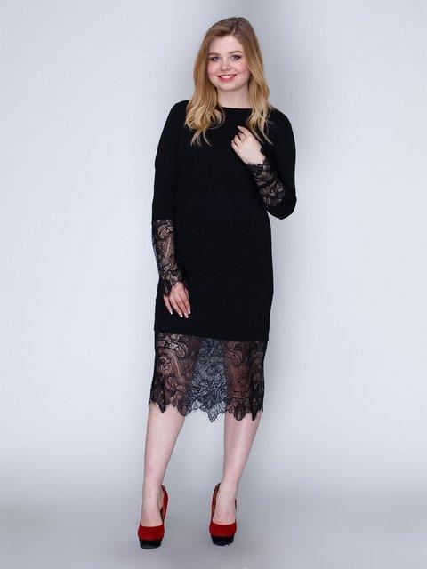Сукня чорна з мереживом Marc Vero Maxxi 2763908