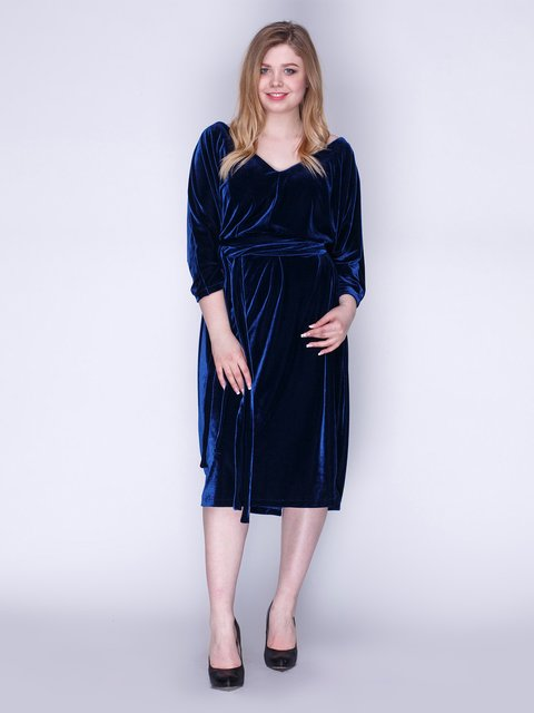 Сукня оксамитова темно-синя Marc Vero Maxxi 3103646