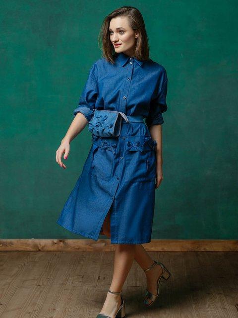 Платье синее ANNA YAKOVENKO 3132900