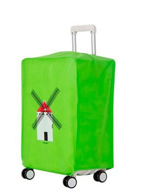 Чохол для валізи салатовий Traum 3116452