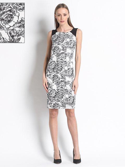 Сукня чорно-біла з квітковим принтом Siste's 3138469