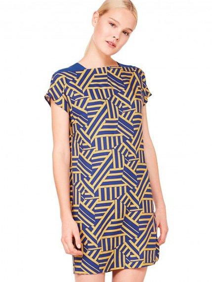 Сукня синя в геометричний принт Benetton 3093694