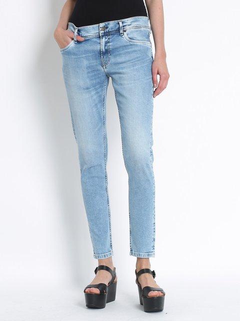 Джинсы голубые с эффектом потертых Pepe Jeans 3160300