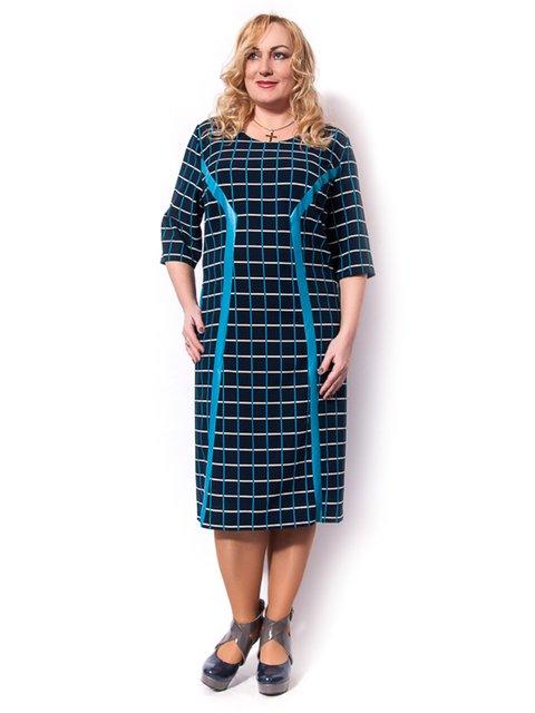 Сукня синя у клітинку LibeAmore 3159065