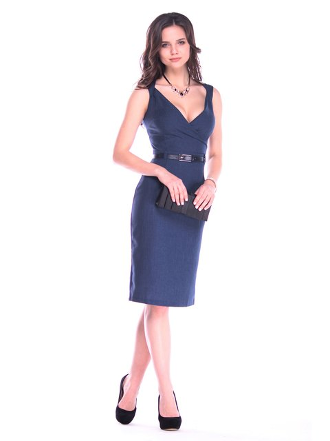 Платье-сарафан темно-синее Maurini 3160451