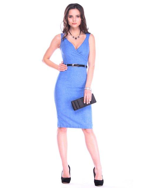 Платье-сарафан цвета электрик Maurini 3160452