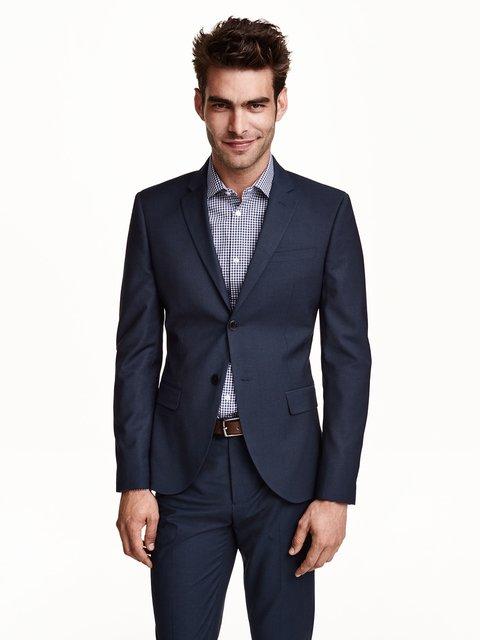 Пиджак темно-синий H&M 3142325