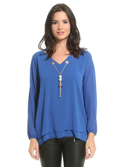 Блуза синя Bleu marine 3181734