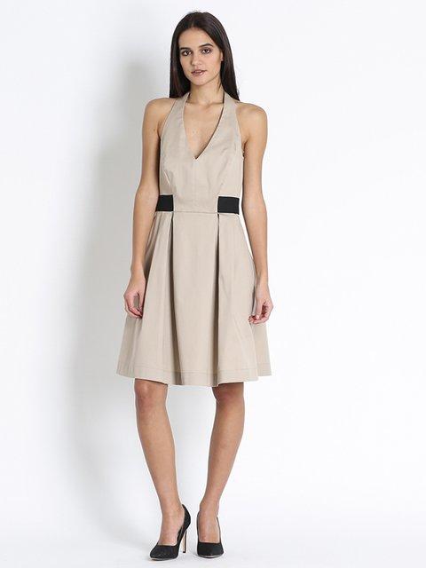 Платье бежевое Sandro Ferrone 3185979